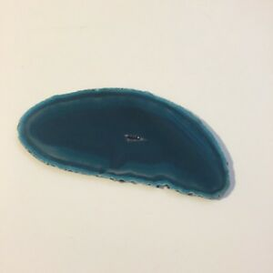 Small Blue Dyed Agate Slice