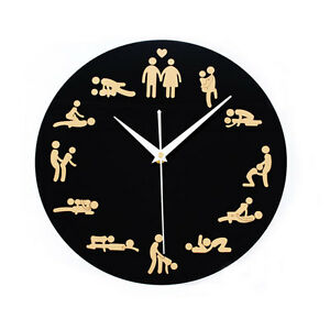 new 24hours sex clock novelty adult only wall clock sexual