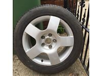 "Genuine 16"" Audi Alloy + new Wanl tyre 205/55 ZR16"