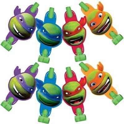 TEENAGE MUTANT NINJA TURTLES CARTOON BLOWOUTS (8) ~ Birthday Party Supplies  - Ninja Turtles Birthday Party Supplies