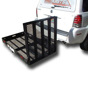 500# TRAILER HITCH WHEELCHAIR OR SCOOTER CARRIER WITH Xtra Long LOADING RAMP