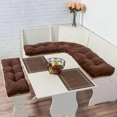- Corner Nook Cushion Set Kitchen Breakfast Bench Table Booth Furniture Plush Soft