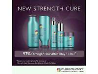 Pureology Strength Cure Shampoo & Conditioner Hairdresser Beauty Makeup Colour Styling Salon