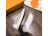 Louis Vuitton Low Creme and Blue Checker - Limited Sizes- Fully Boxed