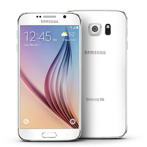 Samsung S6 White - 32GB -Unlocked - Front Screen needs LCD