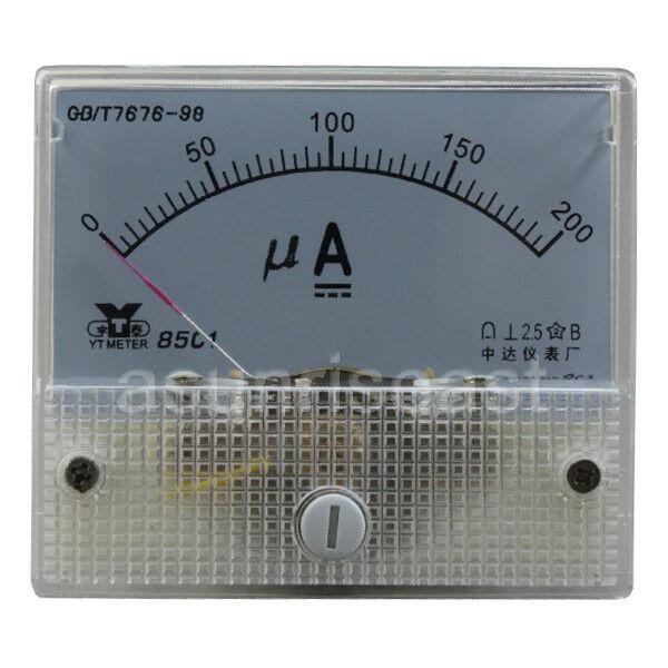 1 x DC200uA Analog Panel APM Microampere Current Meter Gauge 85C1 DC0-200uA