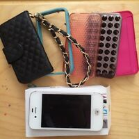 iPhone 4s including 5 cases