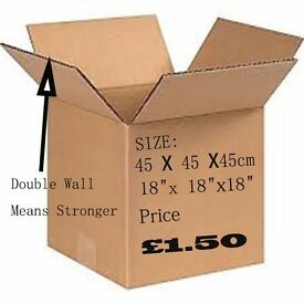Strong boxes double wall move home storage office packing