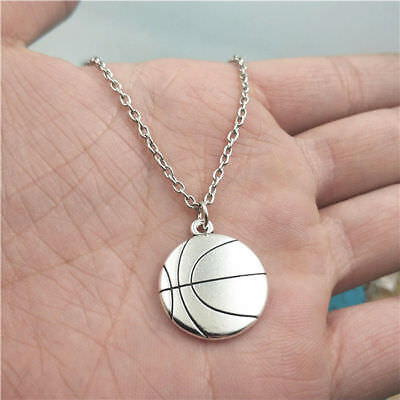 Basketball silver Necklace pendants fashion jewelry accessory,creative Gifts (Basketball Necklaces)