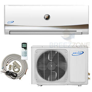 12000 BTU Ductless Mini Split Air Conditioner Heat Pump 1 Ton 12,000 25ft kit