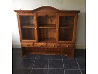 Solid pine dresser top shelving unit