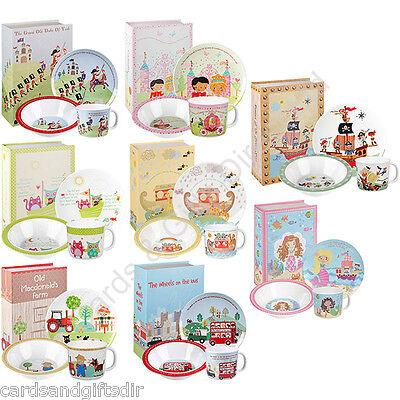 - Churchill Melamine 3 Piece Dinner or Breakfast Set Nursery Rhymes Bowl Plate Cup