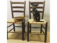 Pair of vintage chairs free delivery in London