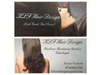 Freelance hairdresser based in and around Edinburgh