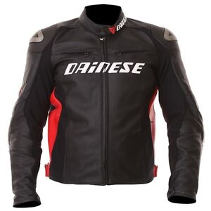Dainese Racing D1 Leather Jacket Size 48
