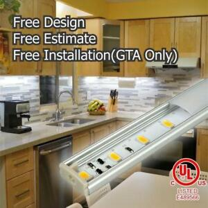 Custom Kitchen Under Cabinet LED Lights - Free Installation CSA