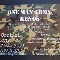 One Man Army Renos, Carpenter for Hire.