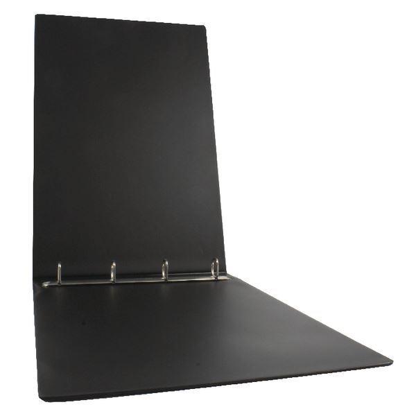 Esselte Binder A3 4 O-Ring 25mm Landscape Polypropylene Black 68737 [ES68737]