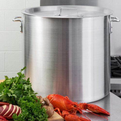 80 Qt. NSF Aluminum Restaurant Kitchen Commercial Stock Pot with Lid Cover