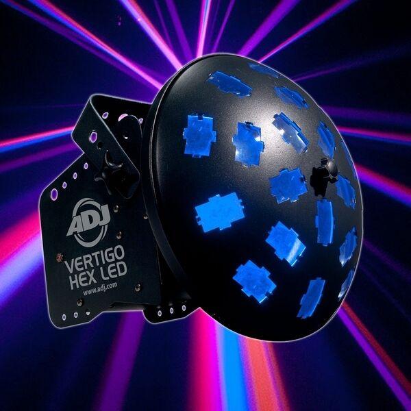 American DJ Vertigo Hex LED RGBCAW Multi-Colored DJ Disco Lighting Effect