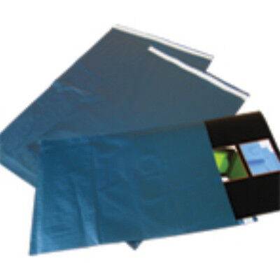 500x Blue Metallic Mailing Bags 9x12
