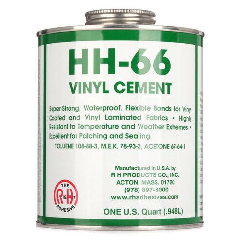 HH-66 Vinyl Cement - 1 Quart Can (32 oz) - Tarp Repair - Vinyl Repair