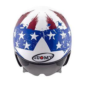 Suomy Rokk Americana Jet Helmet - White/Blue/Red -L