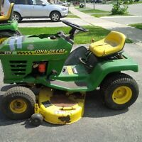 John Deere STX 38 ride on mower