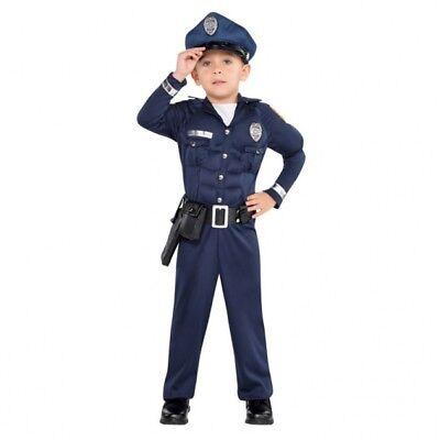 Muskulöser Polizist Jungenkostüm NEU ()