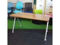 Verco Visual Acute Walnut Desk