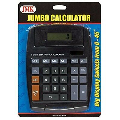 Large 8 Digit Jumbo Display Calculator Solar Battery Big Button Desktop Math
