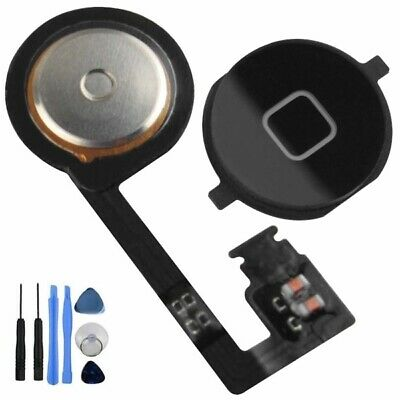 iPhone 4S Home Button with Flex Cable Assembly Replacement Part Black +...