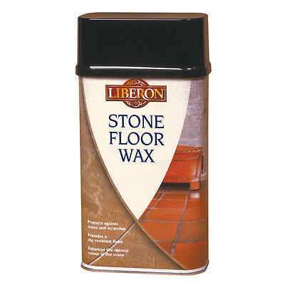 Liberon Stone Floor Wax 1 Litre Ideal for Protecting Stone, Slate, Quarry -