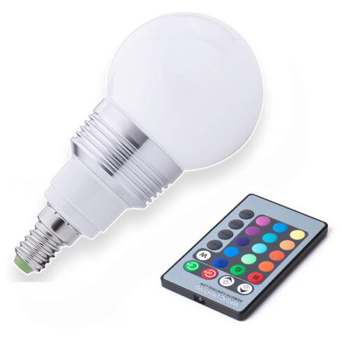 3w e14 e27 gu10 mr16 rgb farbwechsel led gl hbirne lampe. Black Bedroom Furniture Sets. Home Design Ideas