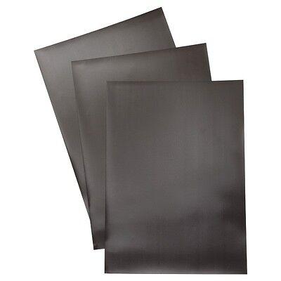 10 8.5 X 11 Flexible Plain Magnetic Magnet Sheets - Black. Set Of 10 Sheets.
