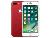 Unlocked Like New Grade A+++ Apple Iphone 7 Plus 128gb Open To All Networks Red Colour