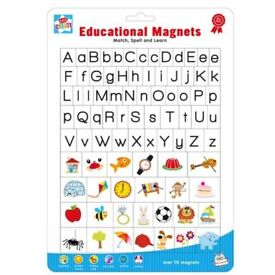 Kids Fridge Magnets - Letters and Pictures
