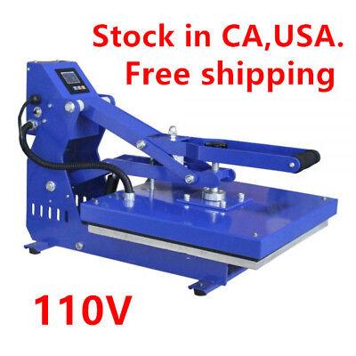 Us Stock 110v 16 X 20 Auto Open Heat Press Machine Horizontal Version