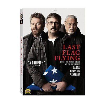 Last Flag Flying Excellent Dvd  Steve Carell  Bryan Cranston  Laurence Fishburne