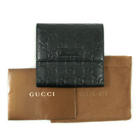 Authentic Gucci Guccissmia Leather Trifold Wallet