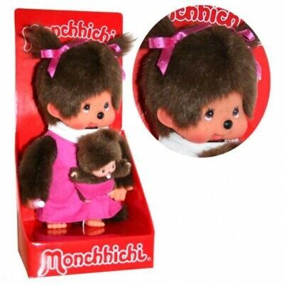 Mutter mit Kind   20 cm   Monchhichi Puppe   Mädchen   pink   Mama mit Baby