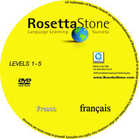 Rosetta Stone French Lvls 1-5 + Newest Application