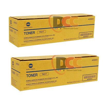 Tn217 Konica Minolta Bizhub 223 283 Toner Cartridge A202031 Lot Of 2