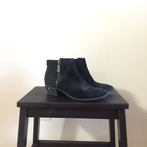 """""""CIRCUS"""" BY SAM EDELMAN BLACK SUEDE BOOTIES. SIZE 6. $30."""