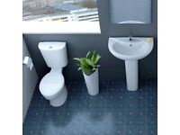 Modern Bathroom Toilet and Basin Suite only £108
