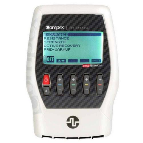 Compex Tens Unit Muscle Stimulator Bundle Kit Performance 2.0 506011TENS White