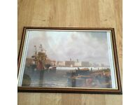 Free Item - Dockyard picture (Print) wood surround