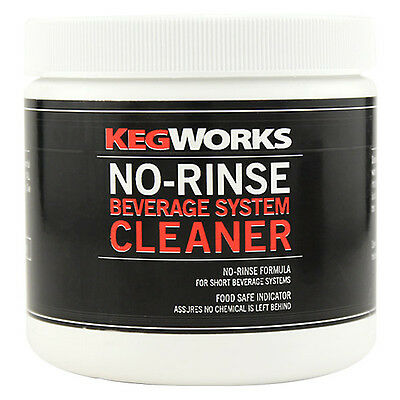 Kegworks No-rinse Beverage System Cleaner - Draft Beer Brew Equip Lines Powder