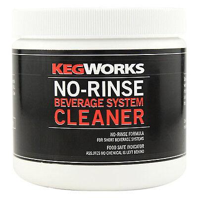 Kegworks No-rinse Beverage System Cleaner - Draft Beer Brew Equip Lines Powder