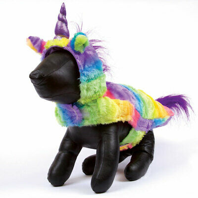 Rainbow Unicorn Dog Halloween Costume Cute Colorful Magical Sparkly Horse Outfit
